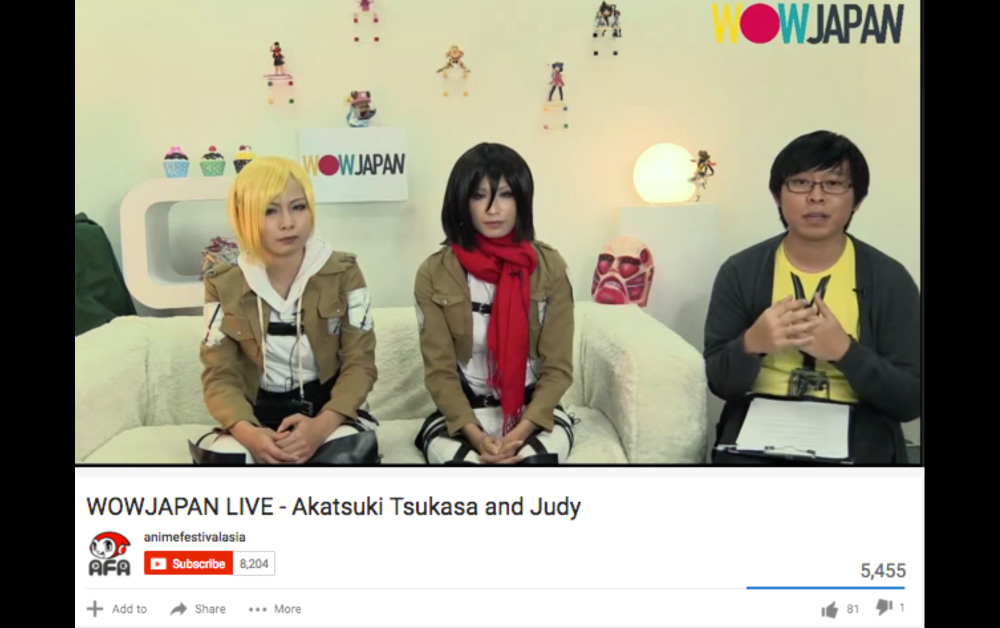 LIVE-STREAM TALKSHOW : Singtel: Hired cosplayers to promote the launch of their new anime channel, ANIPLUS